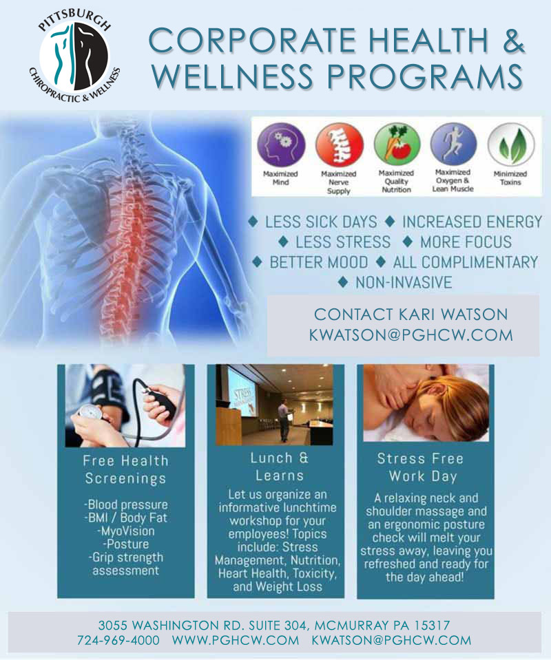 Chiropractic Canonsburg and McMurray PA Corporate Health and Wellness Programs